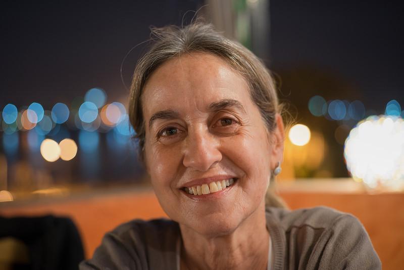 Celia en la terraza del Nile Valley Hotel