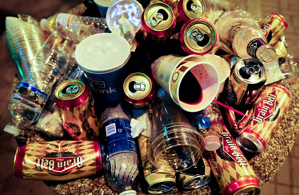 . The remains of a big party in St. Paul celebrating Minnesota\'s new gay marriage law. (Pioneer Press: Ben Garvin)