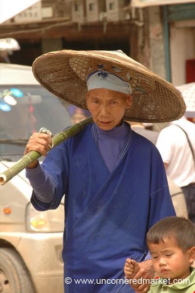 Miao Woman and Son - Guizhou Province, China