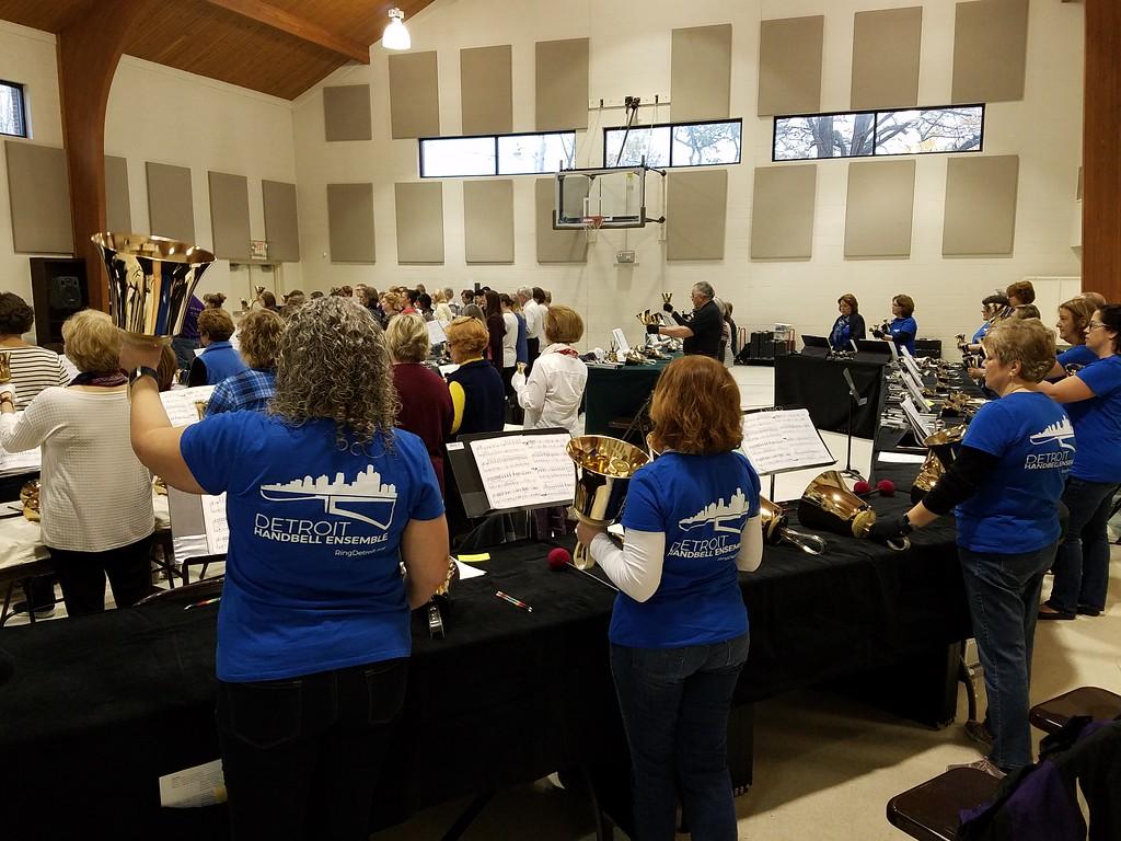 The Detroit Handbell Ensemble co-hosted the 2019 Eaton Rapids Handbell Festival
