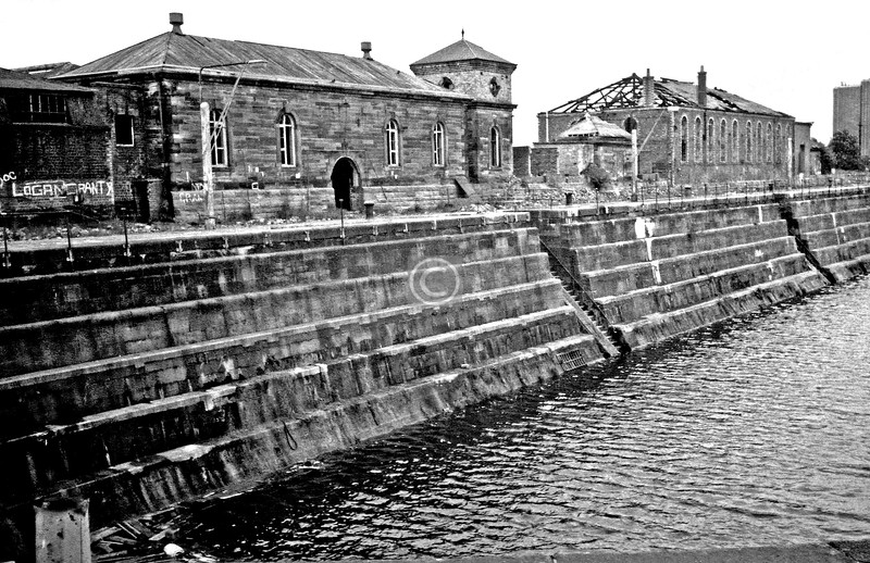 Graving dock no.1 from the west     July 1975