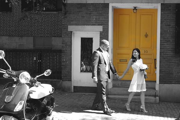 Sondra & Chris' Intimate City Hall Wedding