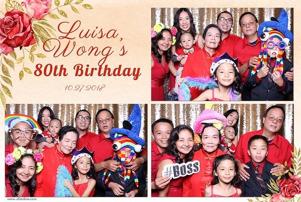Luisa Wong's 80th Birthday