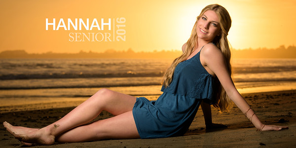 Hannah (Senior Portrait Photography) @ Seacliff Beach, Aptos