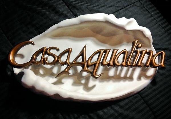 Casa Aqualina Sign