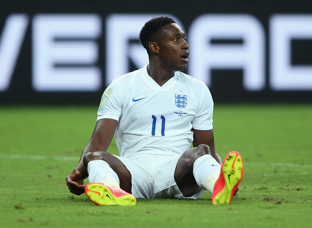 . Danny Welbeck of England looks on during the 2014 FIFA World Cup Brazil Group D match between England and Italy at Arena Amazonia on June 14, 2014 in Manaus, Brazil.  (Photo by Richard Heathcote/Getty Images)