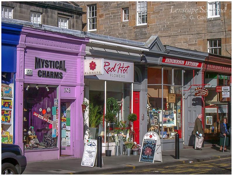 Raeburn Place shops, Stockbridge  (2004)