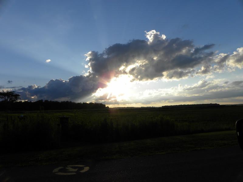 Sun Flare through Clouds
