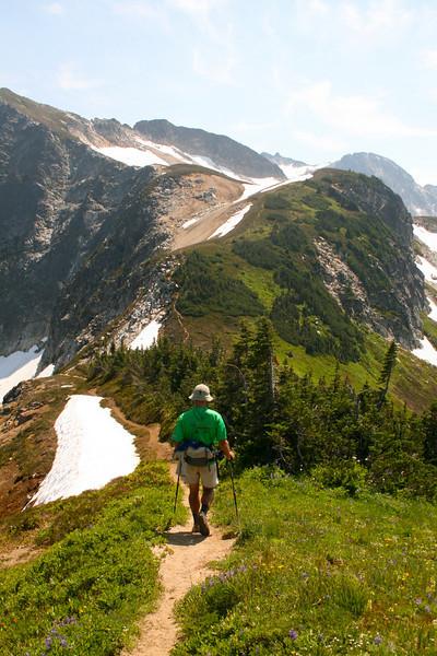 Another lovely ridge walk towards High Pass from Buck Creek Pass.