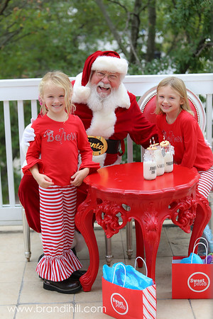 Mariana and Jenny-Ann meet Santa, Sweet Pete's Candy in Jacksonville Florida