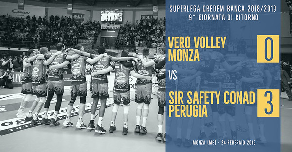 9^ Rit: Vero Volley Monza - Sir Safety Conad Perugia