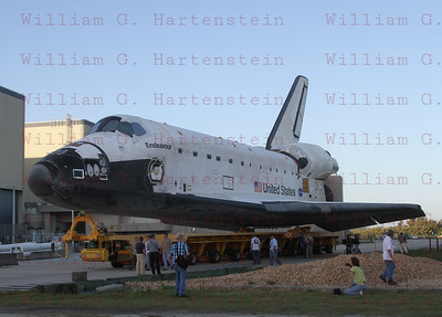 STS-134 Endeavour's last rollover to VAB Feb. 28, 2011