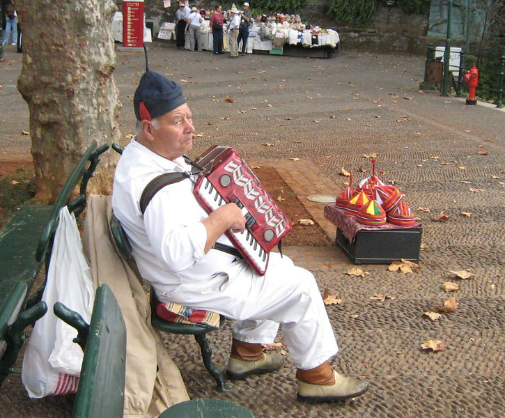 Funchal, Madeira - a local vender at Monte