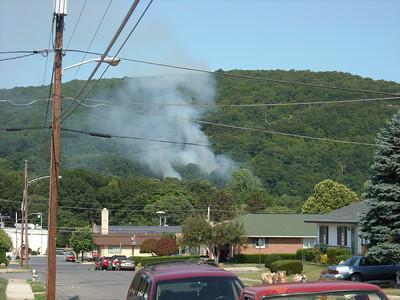 Neversink Mountain Brush Fire