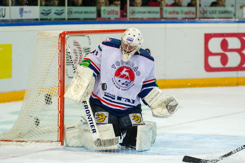 Goaltender of Torpedo Nizhny Novgorod Koval Vitaly (31)
