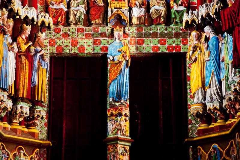 Amiens Cathedral West Facade, The Virgin