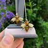 Vintage Bee Conversion Earrings 18