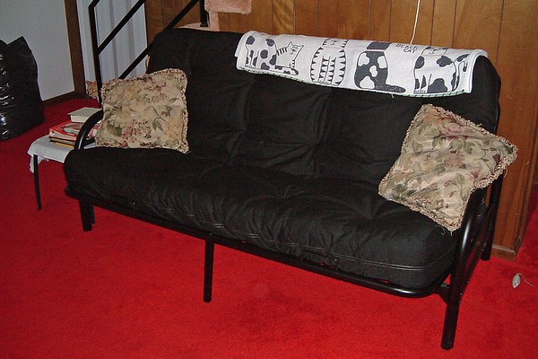 July 28, 2004:  A new futon bed .  .  .