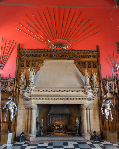 Fireplace in the Great Hall of Edinburgh Castle