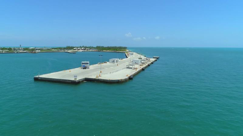 Aerial Key West Pier 4k