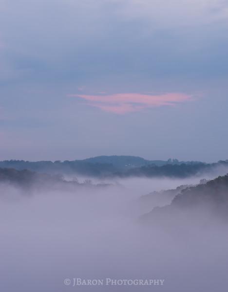 A Foggy Slippery Rock Gorge