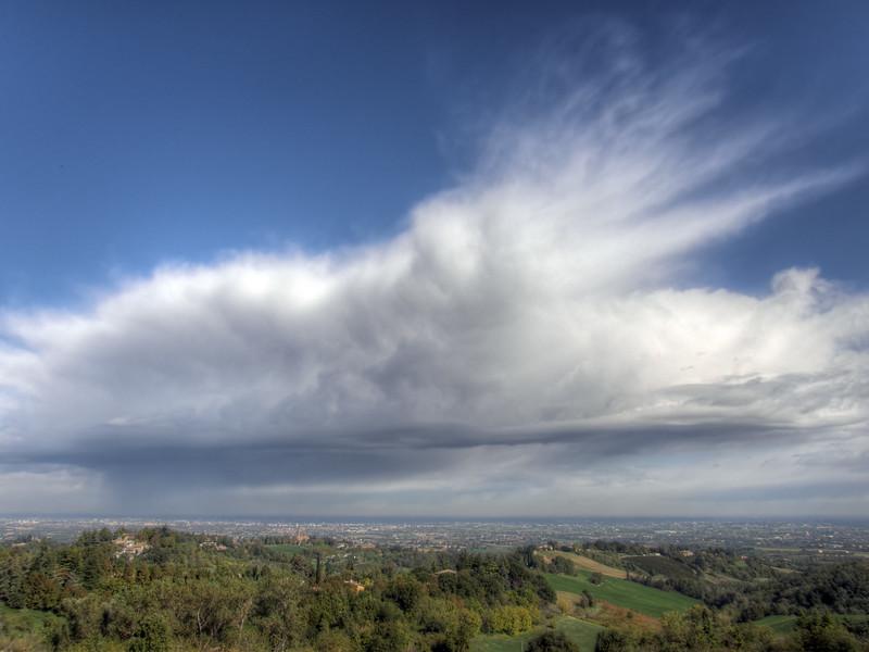 Clouds over Reggio - Montericco, Albinea, Reggio Emilia, Italy - October 14, 2009