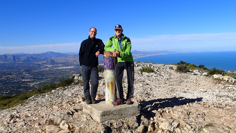Wim and Vic on Montgo summit