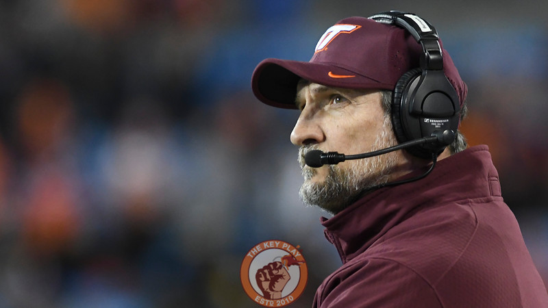 Virginia Tech defensive coordinator Bud Foster looks on late in the game. (Michael Shroyer/ TheKeyPlay.com)