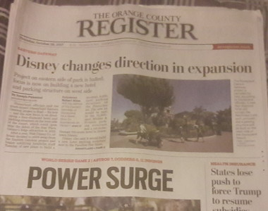 OCR Disneyland Front Page