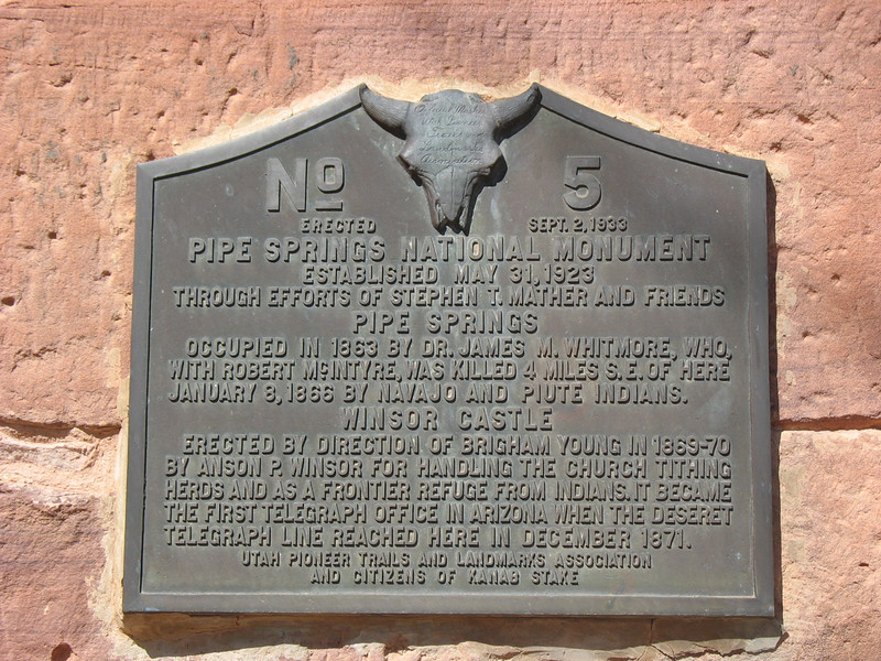 Pipe Springs - historical plaque - KCOT.jpg