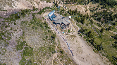 Drone Footage of Crowds and resort