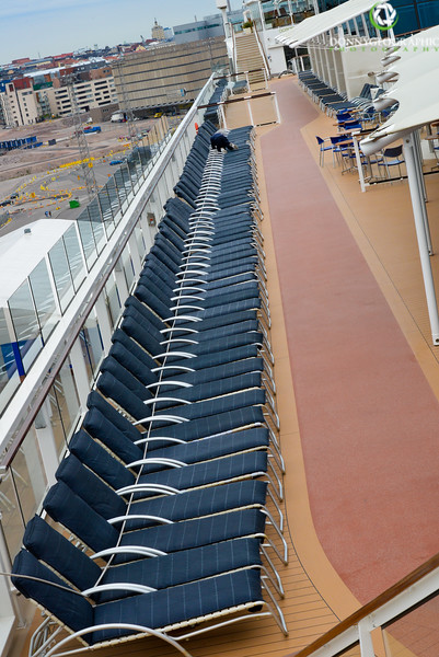 Strapping down the cruise ship chairs.jpg