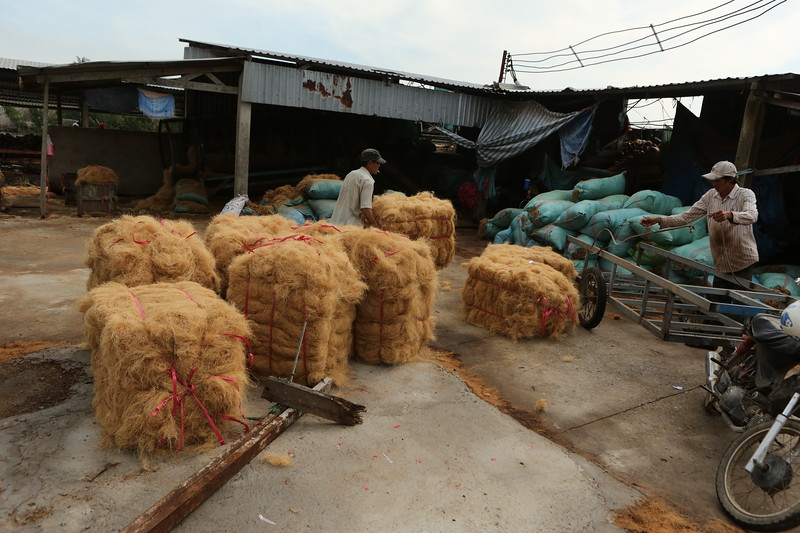 Bales of Coconut twine
