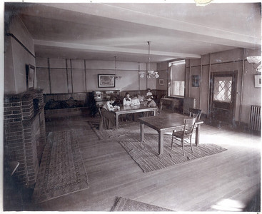 Ticknor Hall Ground Floor South Entry Parlor 1904
