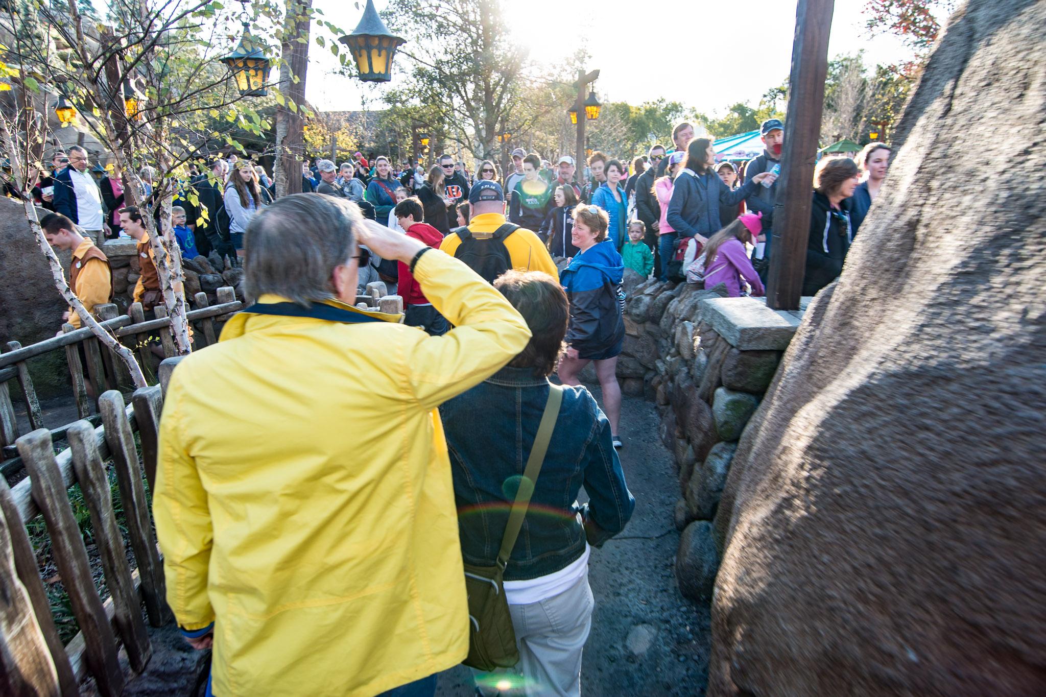 Crowds at Seven Dwarfs Mine Train - Walt Disney World Magic Kingdom