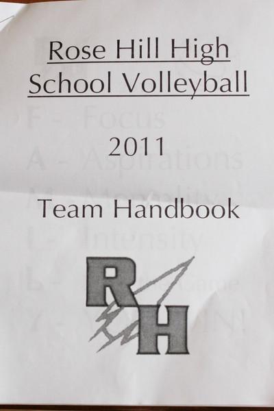 2011 Rose Hill High School Volleyball Team Handbook