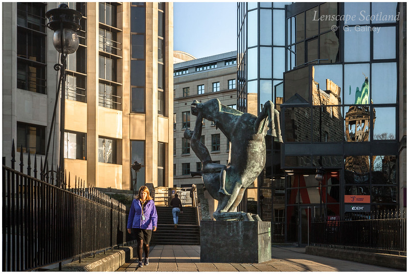 Horse and Rider sculpture, Rutland Square (2)