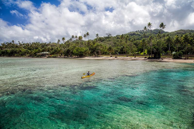 David Stock Jr exploring Fiji by Kayak