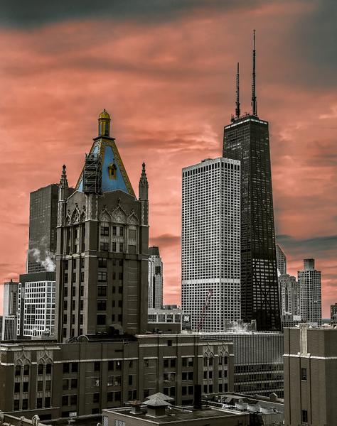 Downtown sundown