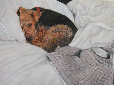 """SLEEPY BOY"" (oil) by Deb Covington"