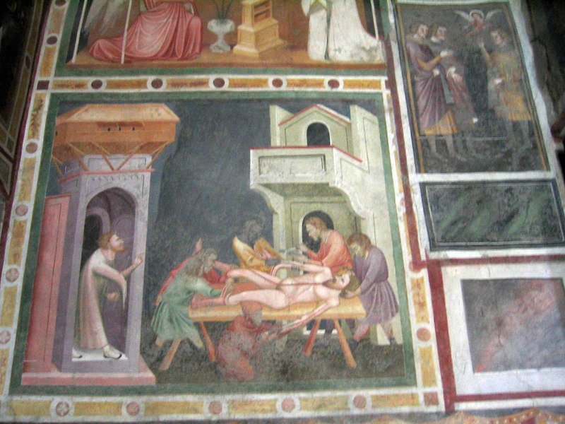 I wish I knew more of the history of these frescoes.