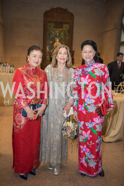 Willow Weilan Hai, Jillian Sackler, Laurie Ying, Freer Sackler, Gallery of Art, Empresses of China, March 27, 2019. Photo by Ben Droz.