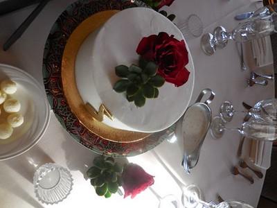Cake flower for each table $15