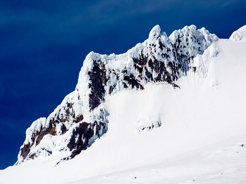 Detail of rock near Mt. Hood's summit.