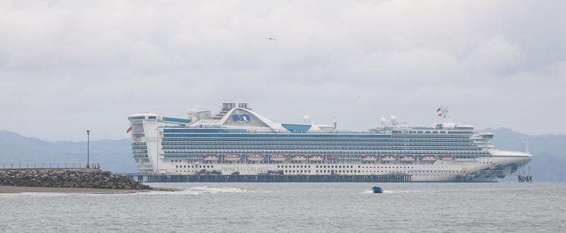 cruise ship in the port in Puntarenas, Costa Rica