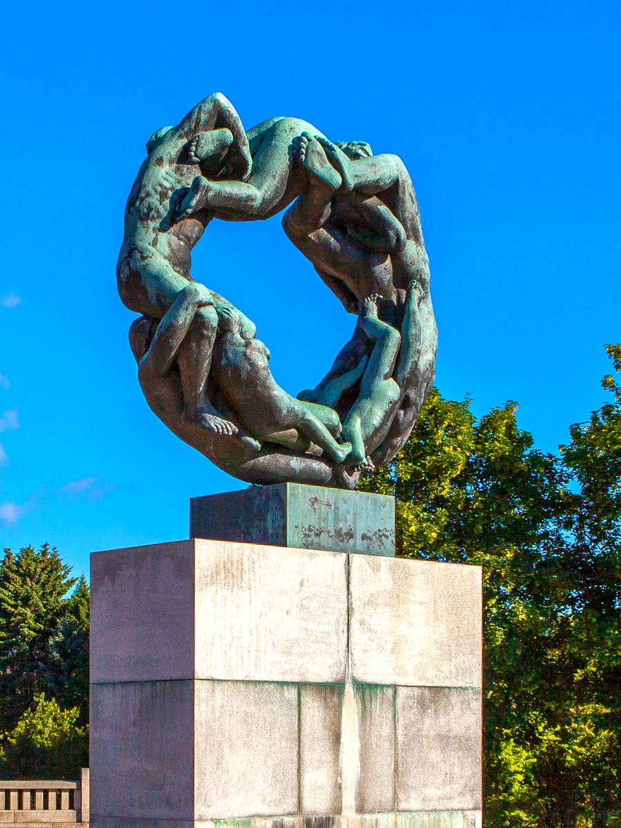 挪威维格兰雕塑公园,身体语言
