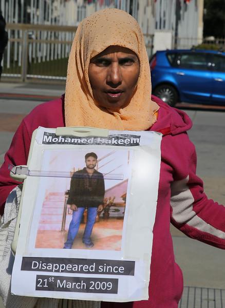 Al vigil against disappearance in SL on 12.03.2015  UN square, Geneva  6