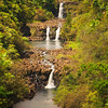 Triple Tiered Umauma Waterfalls on the Big Island of Hawaii