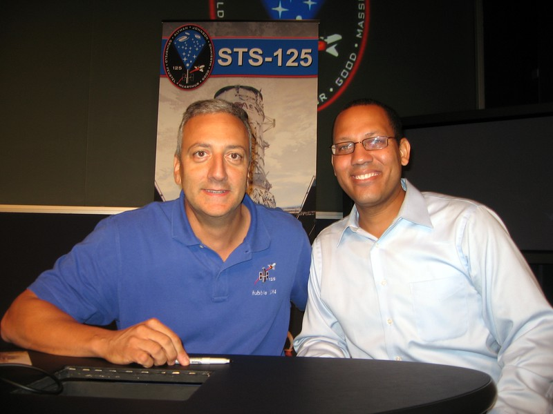 Darron with STS-125 Mission Specialist 4 Mike Massimino