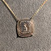 'Joys I Double, Sorrows I Divide' 18kt Rose Gold Cast Pendant, by Seal & Scribe 17